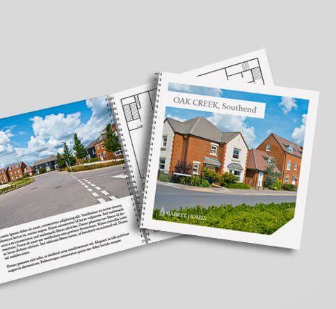 wire bound brochure square