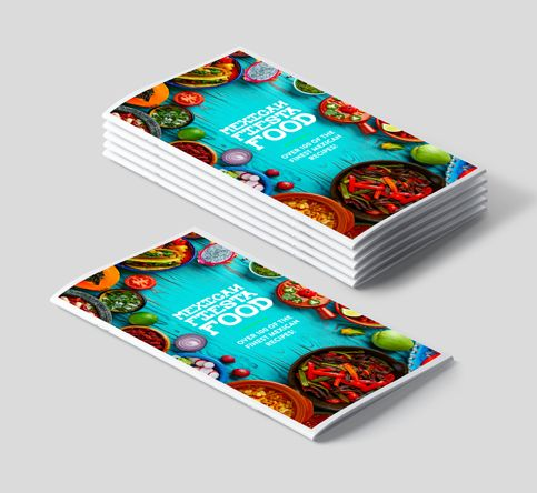 saddle stitched brochures dl